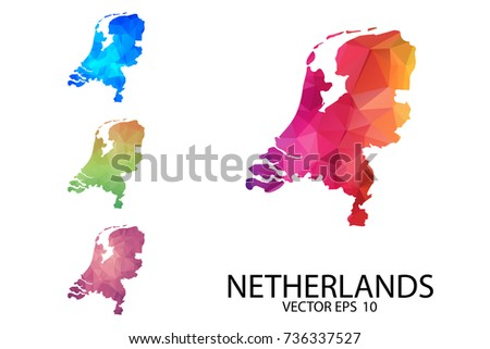 Netherlands Flat Map Download Free Vector Art Stock Graphics