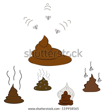 Set of Poop. Vector Illustration