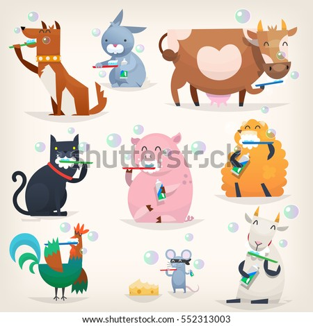 set of popular colorful vector