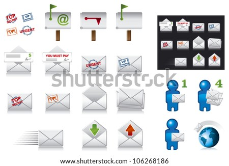 set of post and office icons