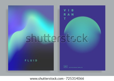 set of poster covers with color
