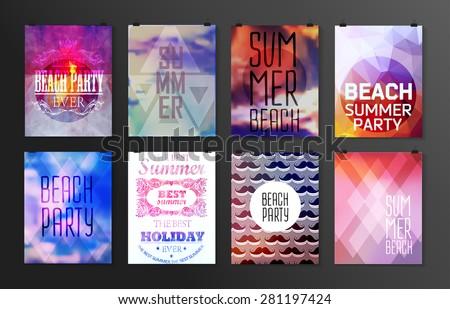 set of poster  flyer  brochure