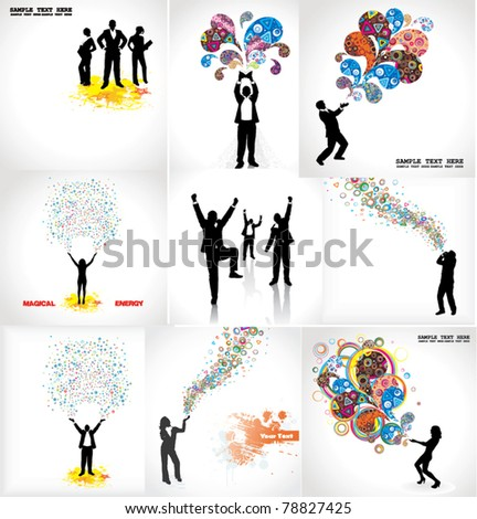 Set of posters for business