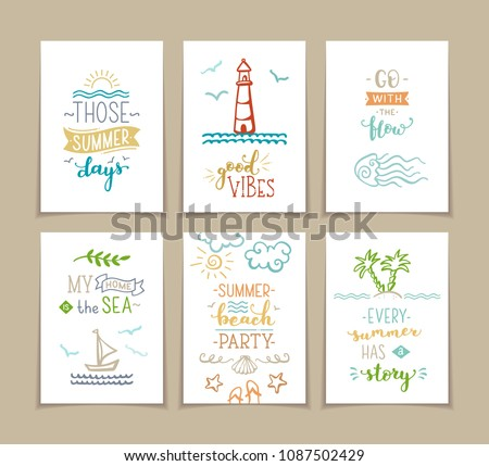 set of 6 pre made sea   ocean