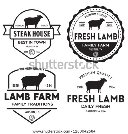 Butchery Meat Cuts Diagram With Beef Stock Photo 370342790