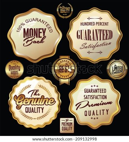 Set of premium quality labels collection