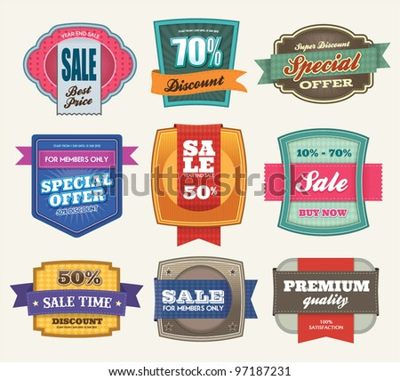 Set of Premium Sale Labels