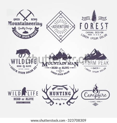 set of premium vector labels on