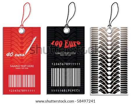 Set of Price tags