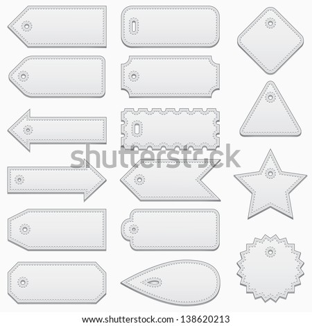 Set of price tags, vector