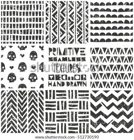 set of 8 primitive geometric...