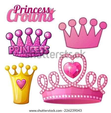 set  of princess crowns