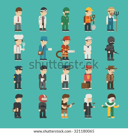 Set of profession characters , eps10 vector format