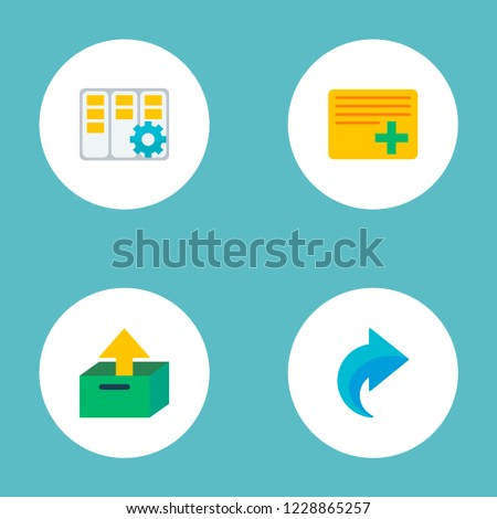 Set of project icons flat style symbols with task manager, redo, add task and other icons for your web mobile app logo design.