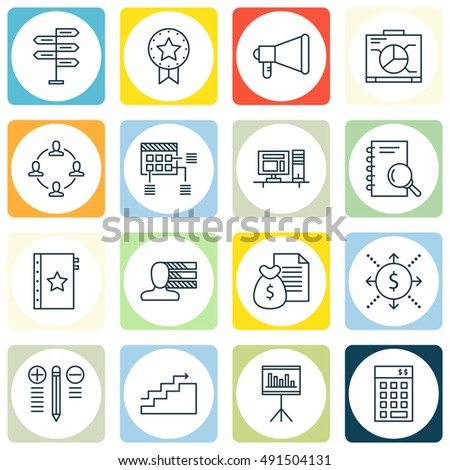set of project management icons
