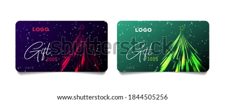 set of promo gift cards