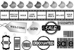 Set of promotional elements