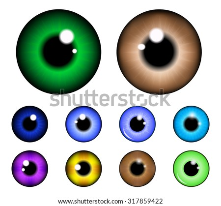 set of  pupil of the eye  eye