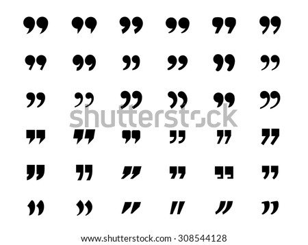 Set of quotation marks