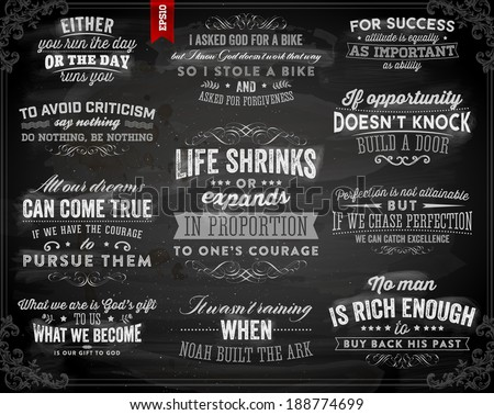set of quotes typographical