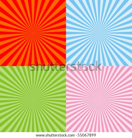 Set of radiant backgrounds
