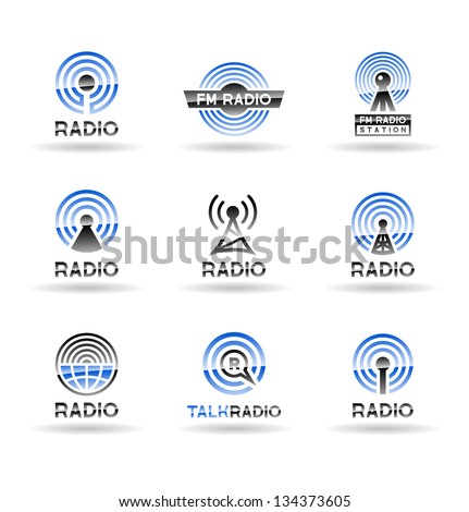 Set of radio station icons. Vol 1.