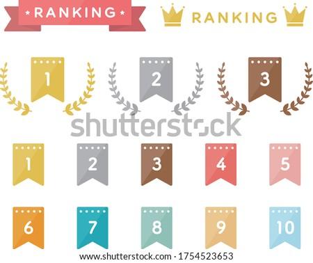 Set of ranking flat icons ストックフォト ©