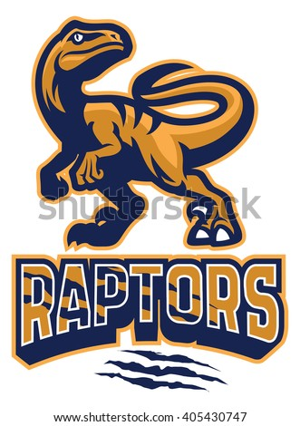 set of raptor mascot