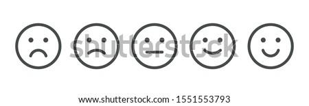 Set of rating emotion faces Foto stock ©