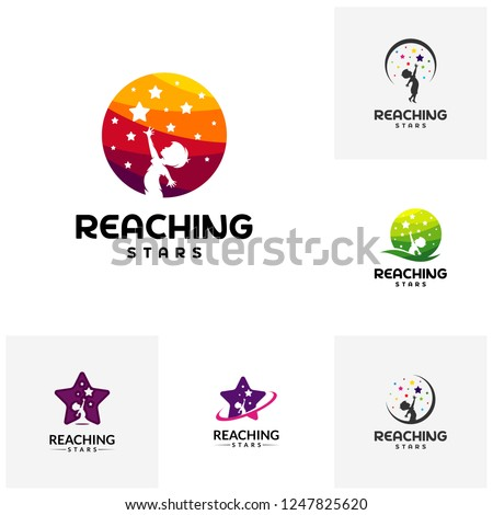 set of reaching stars logo