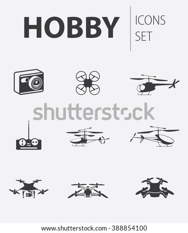 set of ready made simple vector