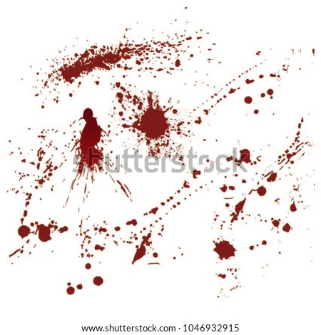 set of realistic bloody