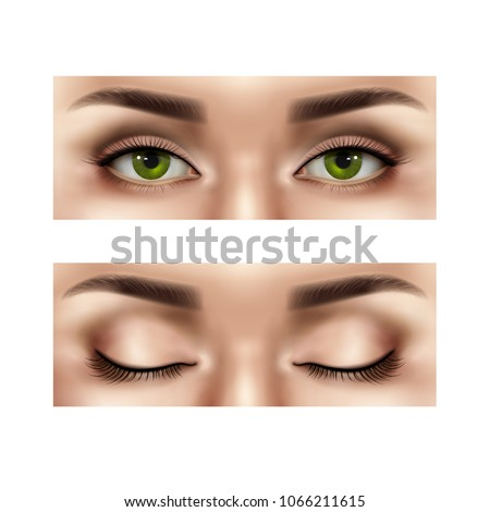 set of realistic part of female