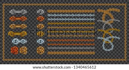 set of realistic vector golden