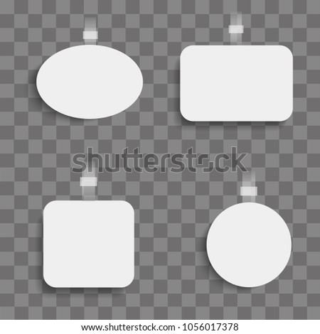 Set of realistic woblbers on transparent background. Vector #1056017378