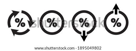 Set of rebate percent icons, tax rebate. Lending symbols, simple illustrations of percentage vector icons, percent signs. Stock photo ©