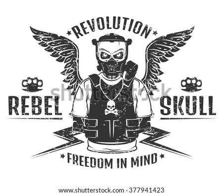 set of rebel skull and