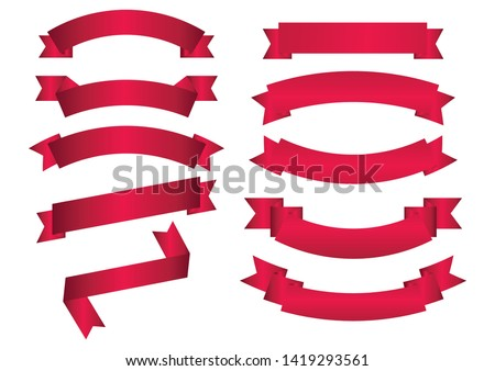 set of red arch  banner icon,red   Web Ribbons Set With Gradient Mesh on white background,Vector illustration. Place for your text. Ribbons for business and design. Design elements