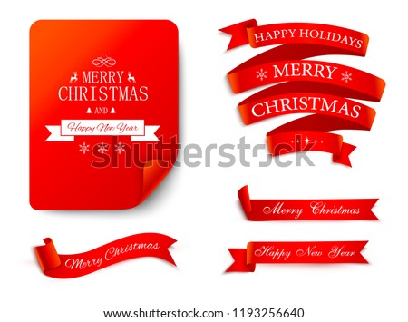 stock-vector-set-of-red-christmas-and-new-year-festive-satin-ribbons-and-labels-for-festive-decoration-vector