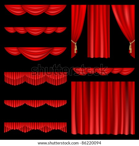 set of red curtains to theater
