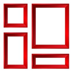 Set of red vector frames.