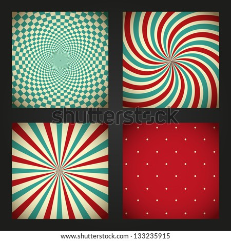 Set of retro abstract backgrounds