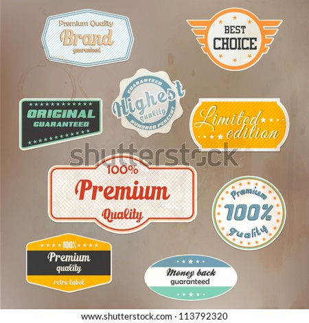 Set of retro badge and labels. Vector