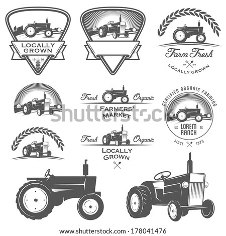 set of retro farm fresh labels