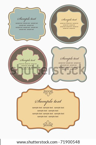 set of retro frames design. vector illustration