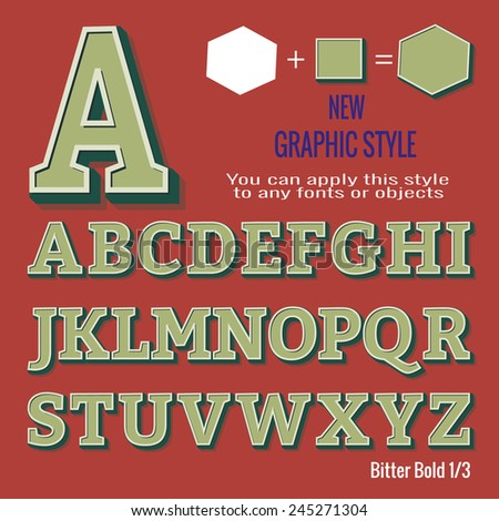 stock-vector-set-of-retro-letters-and-retro-graphic-style-you-can-apply-this-style-to-any-fonts-and-objects