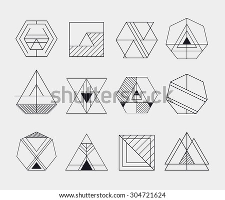 Geometric Logo Template - Download Free Vector Art, Stock Graphics ...