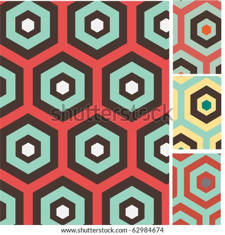 Set of retro seamless vector patterns