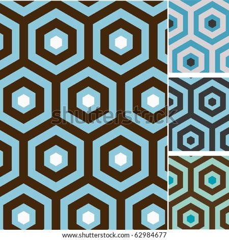 Set of retro seamless vector patterns
