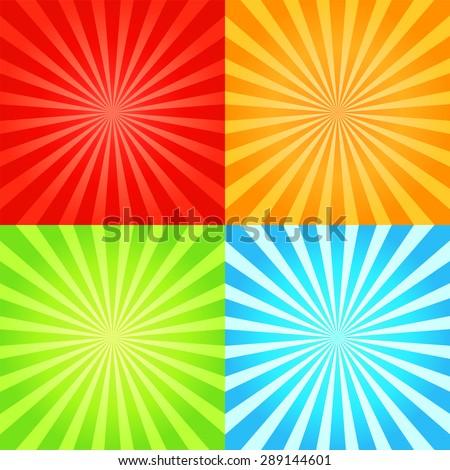 set of retro shiny starburst